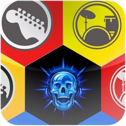 Rock Show and Skulls jewel match puzzle game - Free Edition