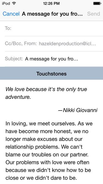 Touchstones review screenshots