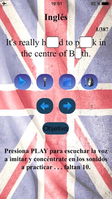 Inglés Británico Sonidos screenshot one