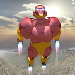 Super Hero Rescue Flying Robot
