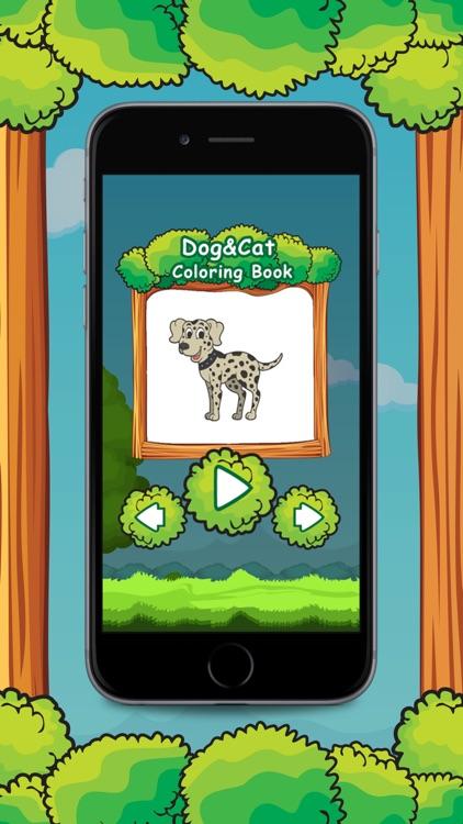 Cat & Dog Animal Coloring Book Games screenshot-3