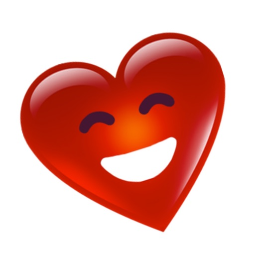 3D Heart Face Happy San Valentine's Day Stickers
