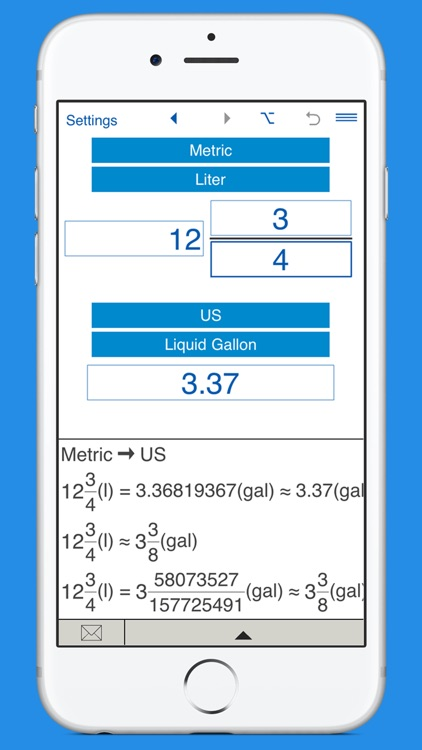 US gallons to liters and L to US gal Converter screenshot-3