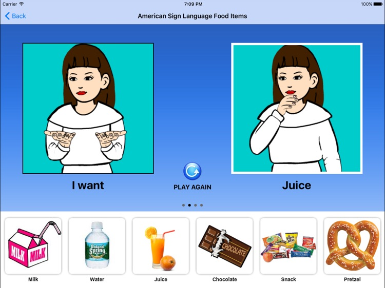 American Sign Language Food Items