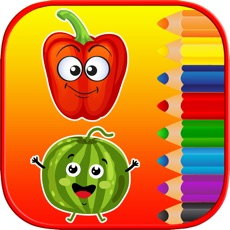 Activities of Kids Coloring Pages Tracing - Fruit Vegetable Game