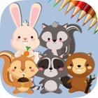 Cute Squirrel & Rabbit - Game coloring book for me icon
