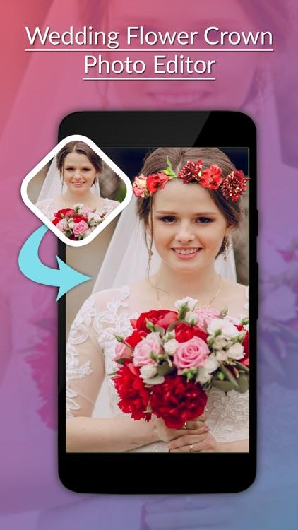 Wedding Flower Crown Photo Editor - Crown Stickers screenshot-3