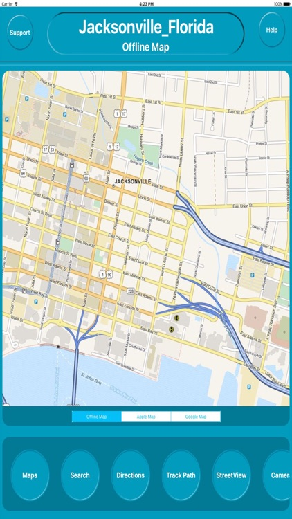 Jacksonville Florida Offline City Maps Navigation
