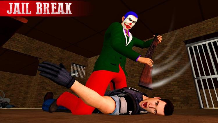 Crazy Clown Real Gangster Jail Break: City Attack screenshot-3