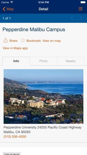 Pepperdine Malibu Campus Map.Pepperdine University On The App Store