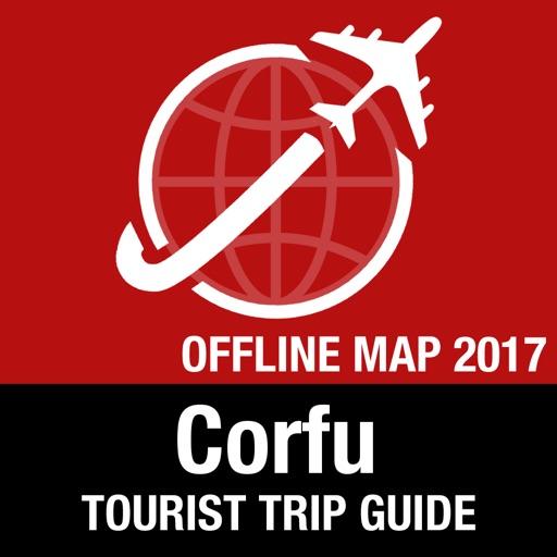 Corfu Tourist Guide + Offline Map