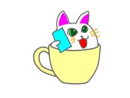 Cute icat Stickers