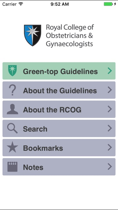 Screenshot for RCOG Guidelines in South Africa App Store