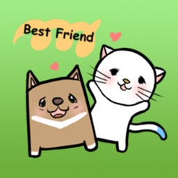 Cat And Dog - Lovely Pets Sticker