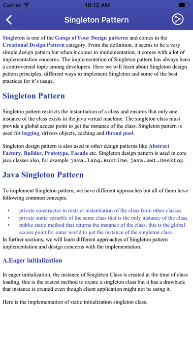 Screenshot #3 pour Design patterns in Java
