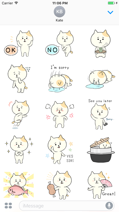 Scarlett The Embarrassing Cat English Stickers