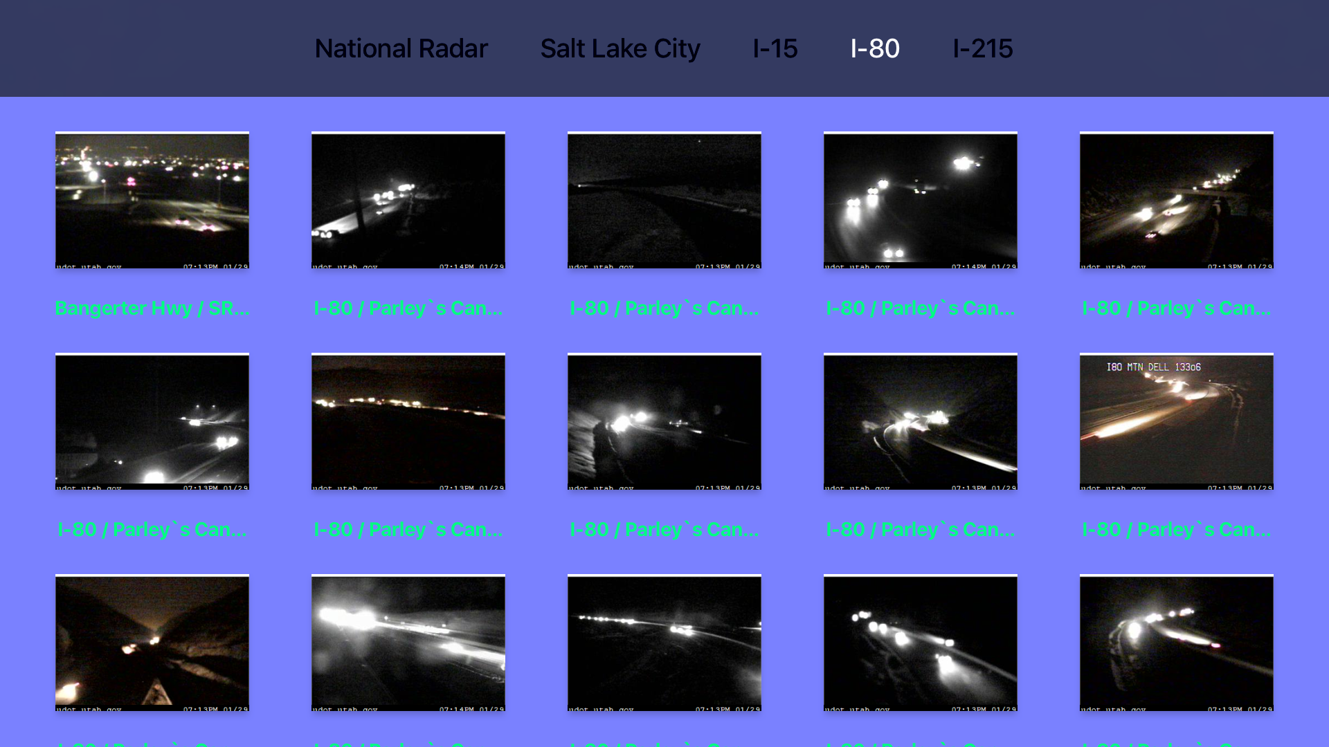 Utah NOAA Radar with Traffic Camera screenshot 11