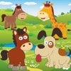 Puzzle: Animal gravity for toddlers and kids