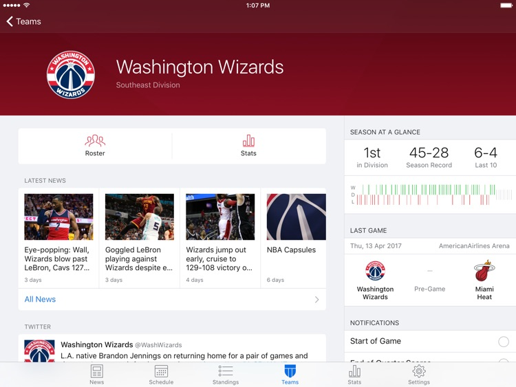 Pro Basketball Live for iPad