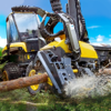 Logging Harvester Truck Full
