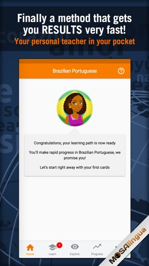 Learn Portuguese - MosaLingua Screenshot