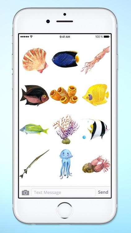 Aquarium Visit Fish and Sea Life Sticker Pack screenshot-4