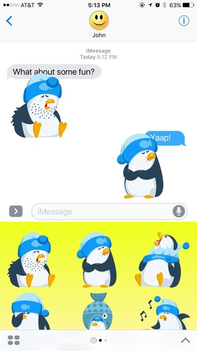 Friendly Penguin Stickers