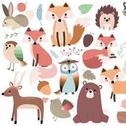 Forest Animals! Stickers