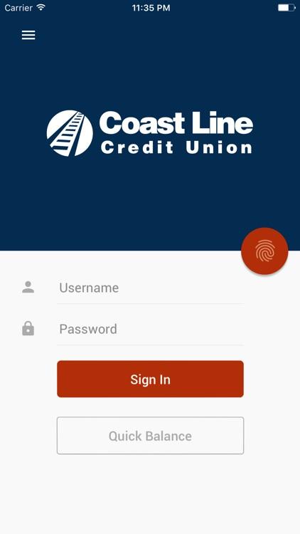 Coast Line CU Mobile Banking