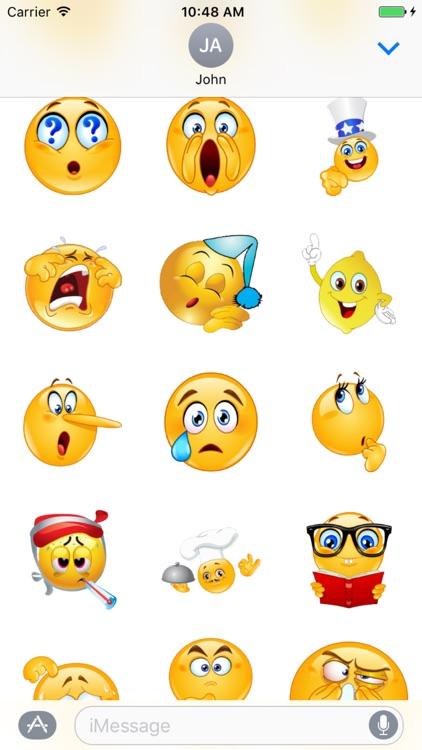 Emoticons Sticker Box