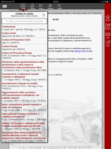 Codici e Leggi Screenshots