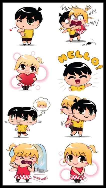 Love Couple 2 Stickers