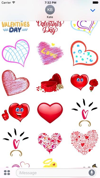 Valentine's Day Mega Sticker Pack screenshot-3