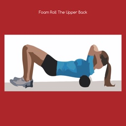 Foam roll the upper back