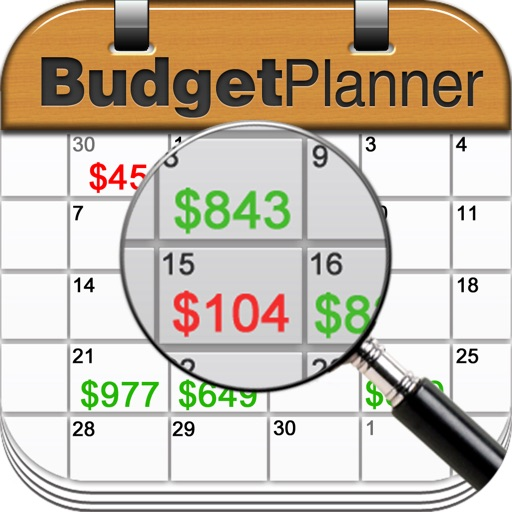Budget Planner & Web Sync (income and expense balance calendar)