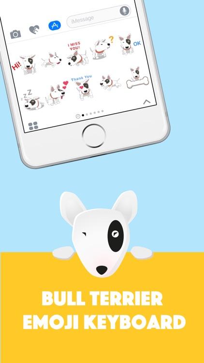 Bull Terrier Emoji Keyboard