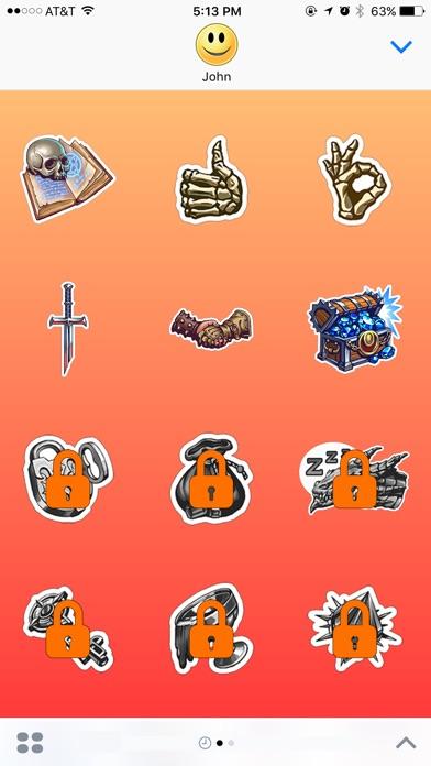 Schätze und Drachen StickerScreenshot von 3