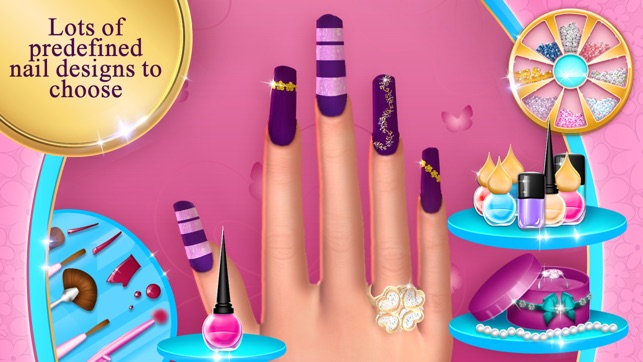 Fashion nail salon game amazing nail art designs on the app store screenshots solutioingenieria Gallery