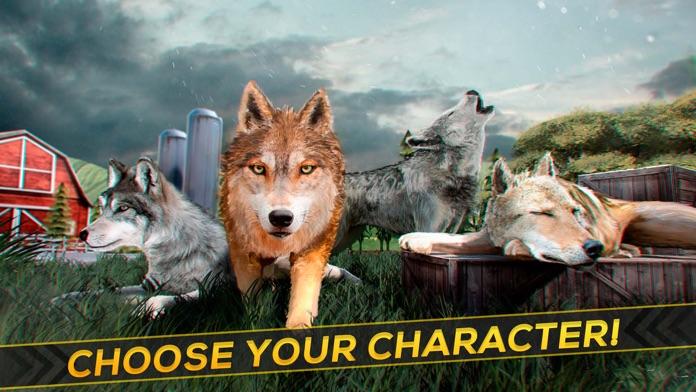 Wolf Simulator 2016 . Animal Running Game for Free Screenshot