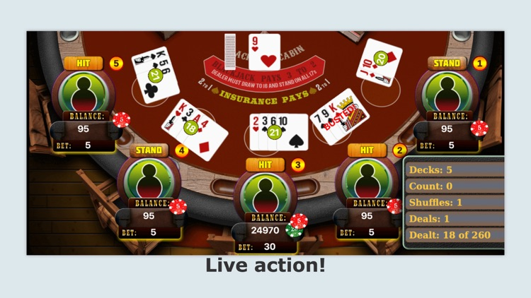 Blackjack Counting Strategy Trainer