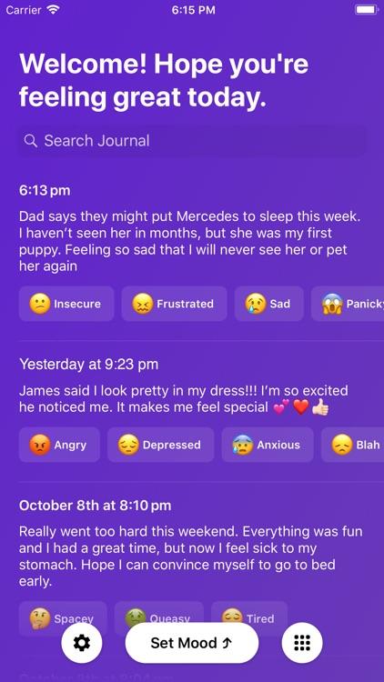 Mood App - Journal screenshot-0