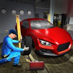 Sports Car Race Pit Stop: Auto Mechanic
