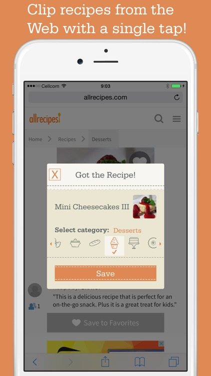 Recipe Organizer by OrganizEat: recipe keeper box