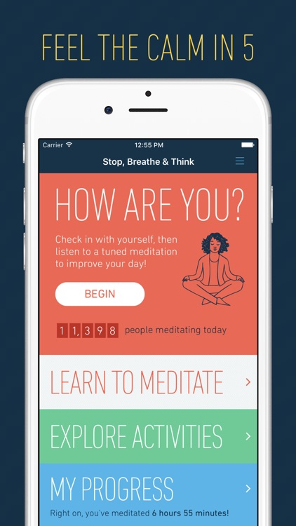 Stop, Breathe & Think: Meditation and Mindfulness app image