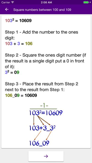 Math Tricks (100+) PRO screenshot one
