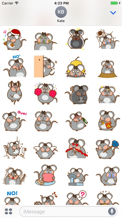 Obese Mice - Animated Stickers And Emoticons