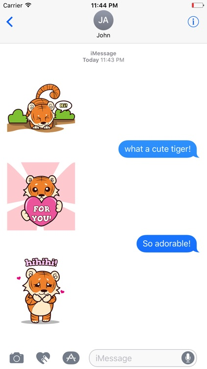 Little TIGEr Animated Stickers screenshot-4