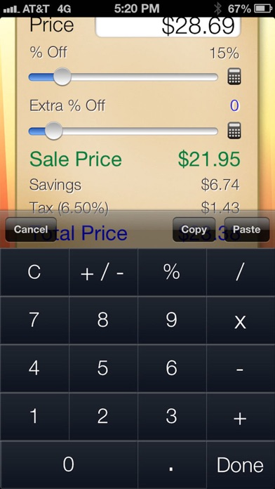 sale saver percent off shopping calculator app price drops