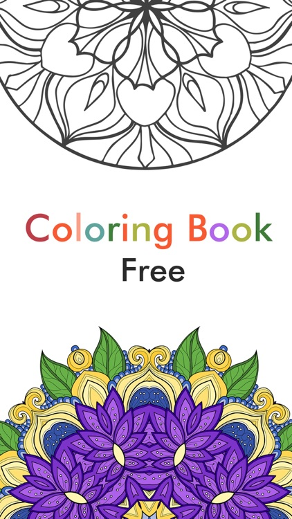 Adult Color Therapy Pages - Flower Coloring Book screenshot-3