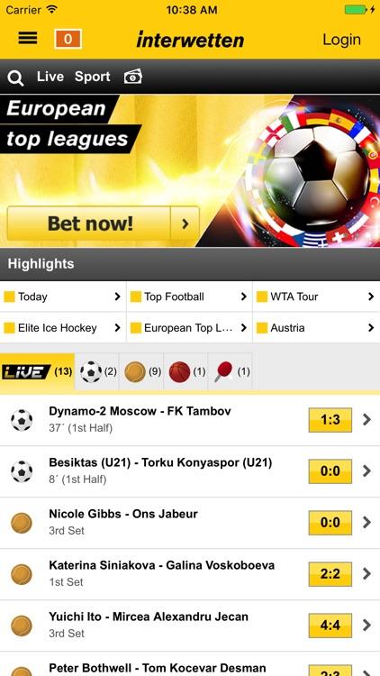 Interwetten – Sports screenshot-0